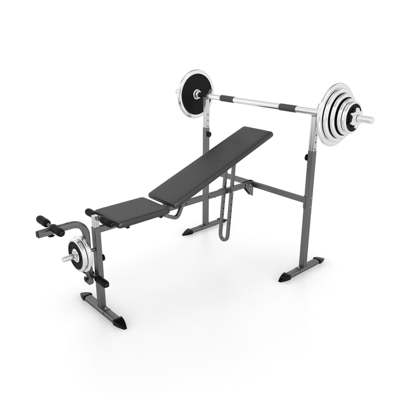 3ds max weight lifting bench