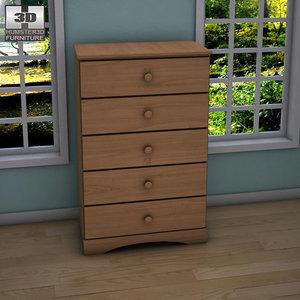 3d model ashley benjamin chest