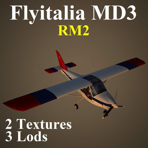 3d max flyitalia md3 rm2 aircraft