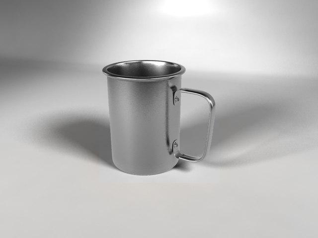 inox mug camping 3d model