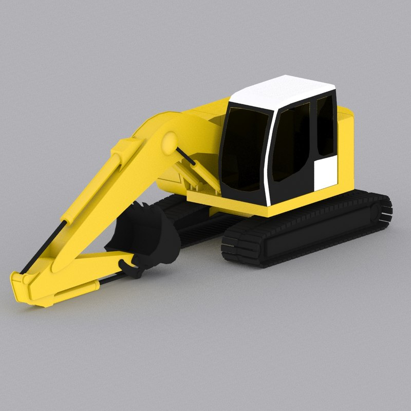 Low poly- Crawler Excavator R924 Compact Swing