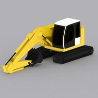 crawler excavator r924 compact 3d 3ds