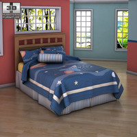 ashley benjamin bed - 3d obj