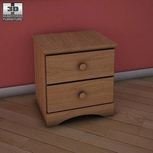 ashley benjamin nightstand 3d model