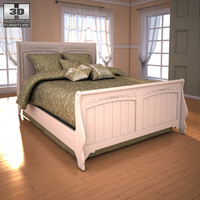3d ashley cottage retreat sleigh bed