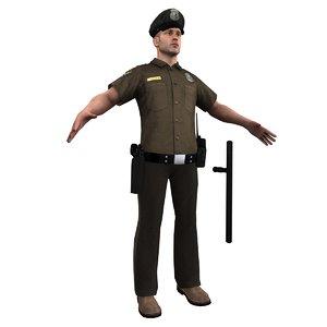 3d model police officer