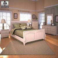 Ashley Cottage Retreat Sleigh Bedroom Set