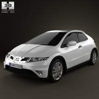 3d honda civic typer model