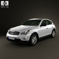 3d model infiniti 2009 car
