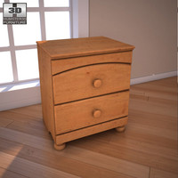 3d model of ashley stages nightstand