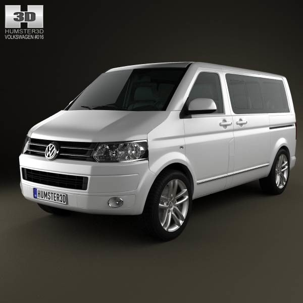 volkswagen transporter caravelle multivan 3d 3ds