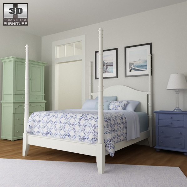 bedroom 15 set bed 3d model