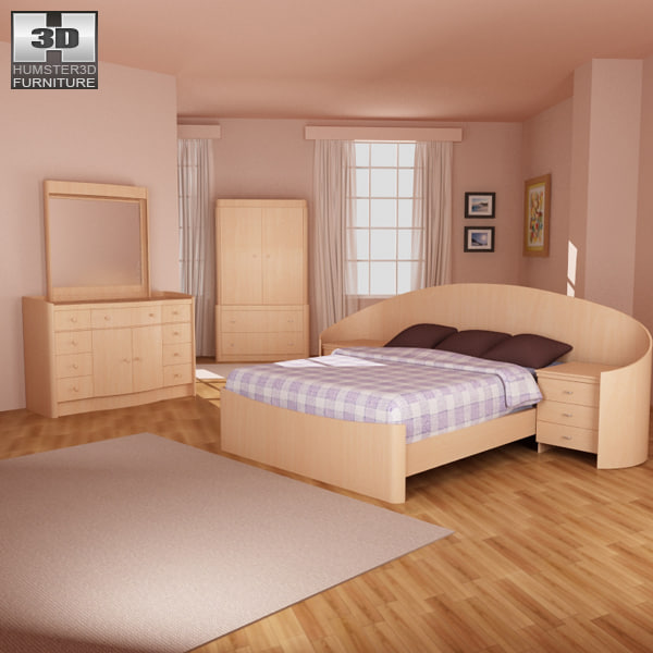 3d lwo bedroom furniture 16 set