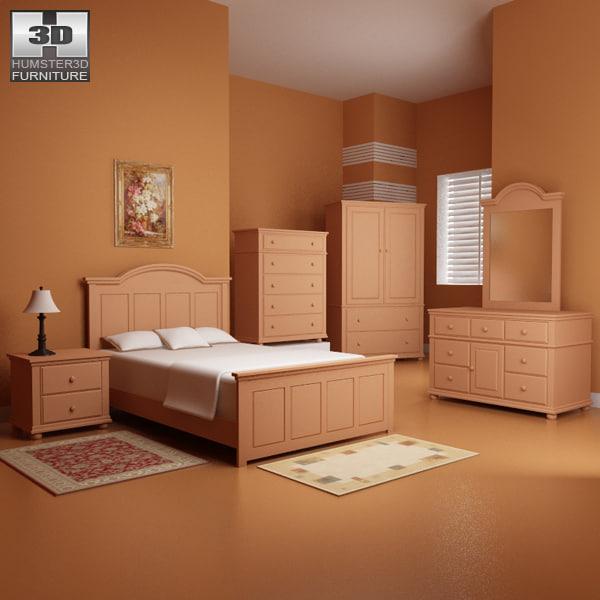 3d bedroom furniture 18 set