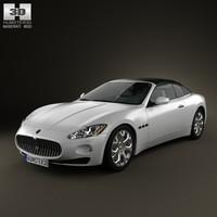 3d model maserati grancabrio 2011