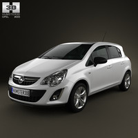 3d model opel corsa 5door 2011