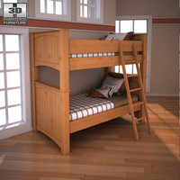 3ds max ashley stages twin bunk bed