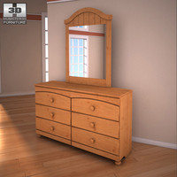 3ds ashley stages dresser mirror
