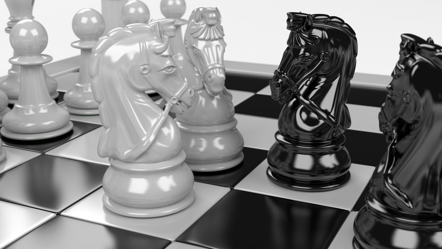pawns chess board 3ds