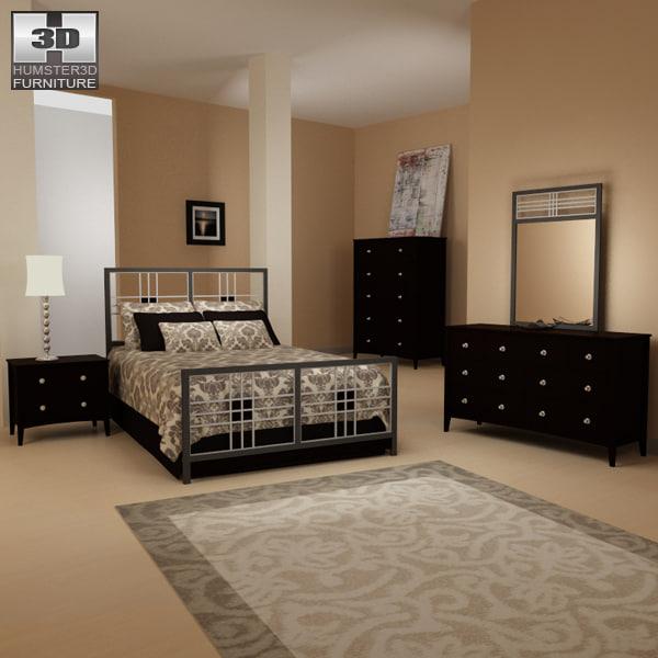 3d bedroom furniture 17 set model