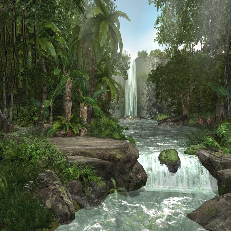 waterfall jungle cascades max