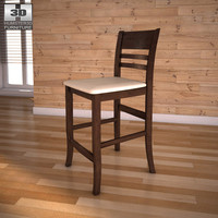 3ds max ashley lynx 24 barstool