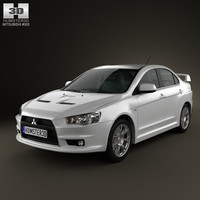 3d mitsubishi lancer evolution x model