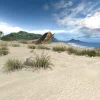 3d model desert island