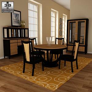 dining room 03 set 3d 3ds