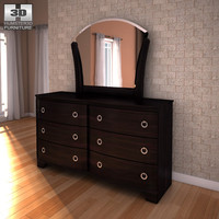 3d ashley pinella dresser mirror