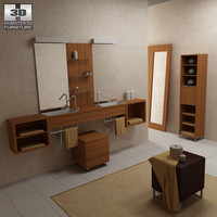bathroom furniture 02 set max