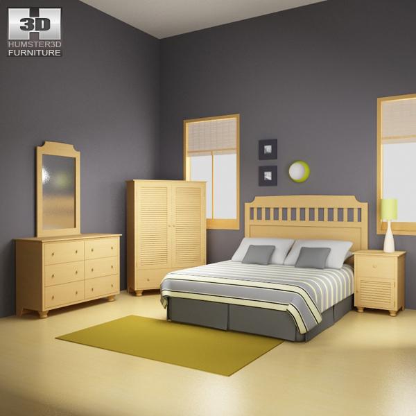 bedroom furniture 20 set 3d 3ds
