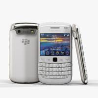 3d model low-poly blackberry bold 9790