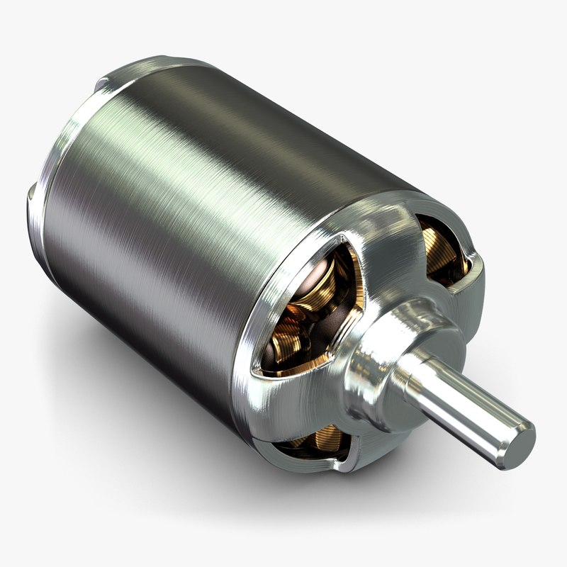 3ds max brushless electric motor simplified
