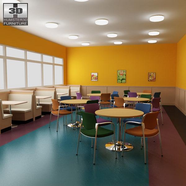 3d model of dining room 04 set