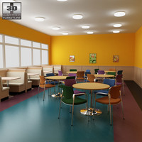 Dining room 04 Set - a fast food restaurant furniture.