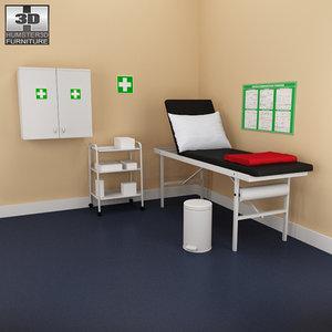 hospital 02 set - 3d 3ds