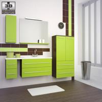 bathroom furniture 03 set 3d obj