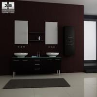 bathroom furniture 04 set obj