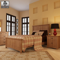 3d bedroom furniture 23 set model