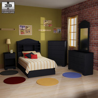 3d model bedroom furniture 21 set