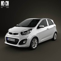 kia picanto 2012 interior car 3d max