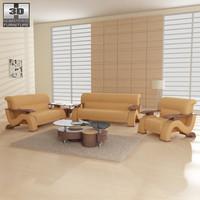 living room furniture 06 3d 3ds