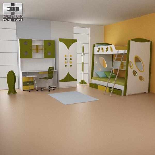 nursery room 07 set 3d max