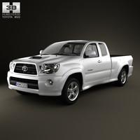 3d model toyota tacoma xrunner 2011