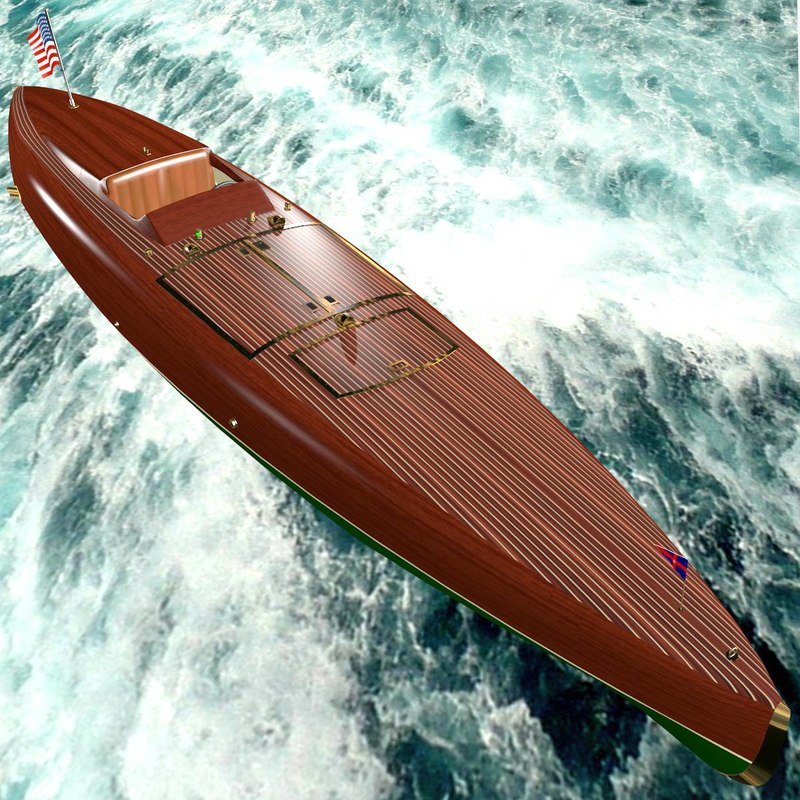 3d speed boat hull baby model