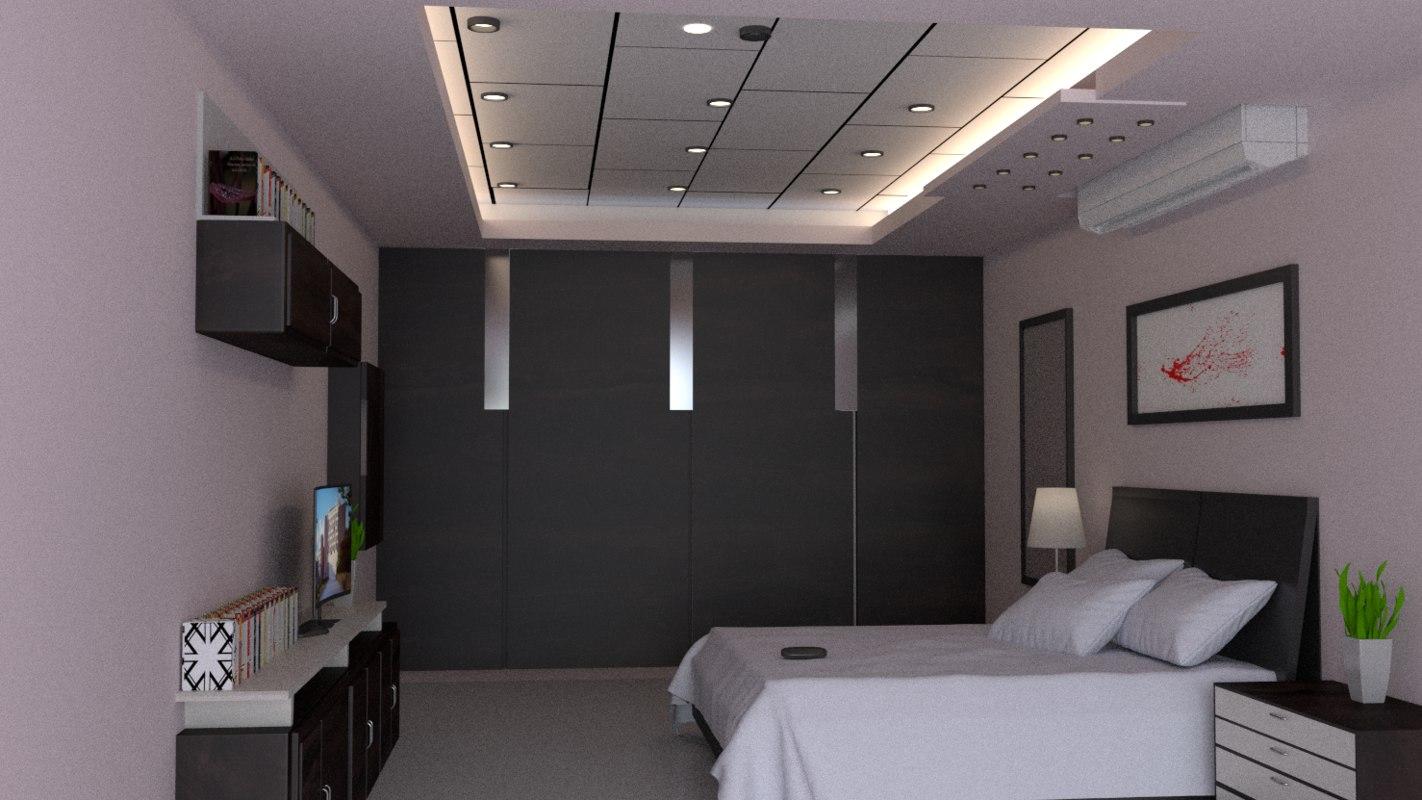 3d model hotel bedroom room