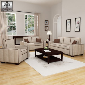 living room furniture 07 3d model