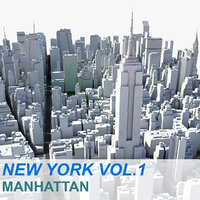 new york manhattan vol 3d max