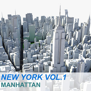 new york manhattan vol 3d max